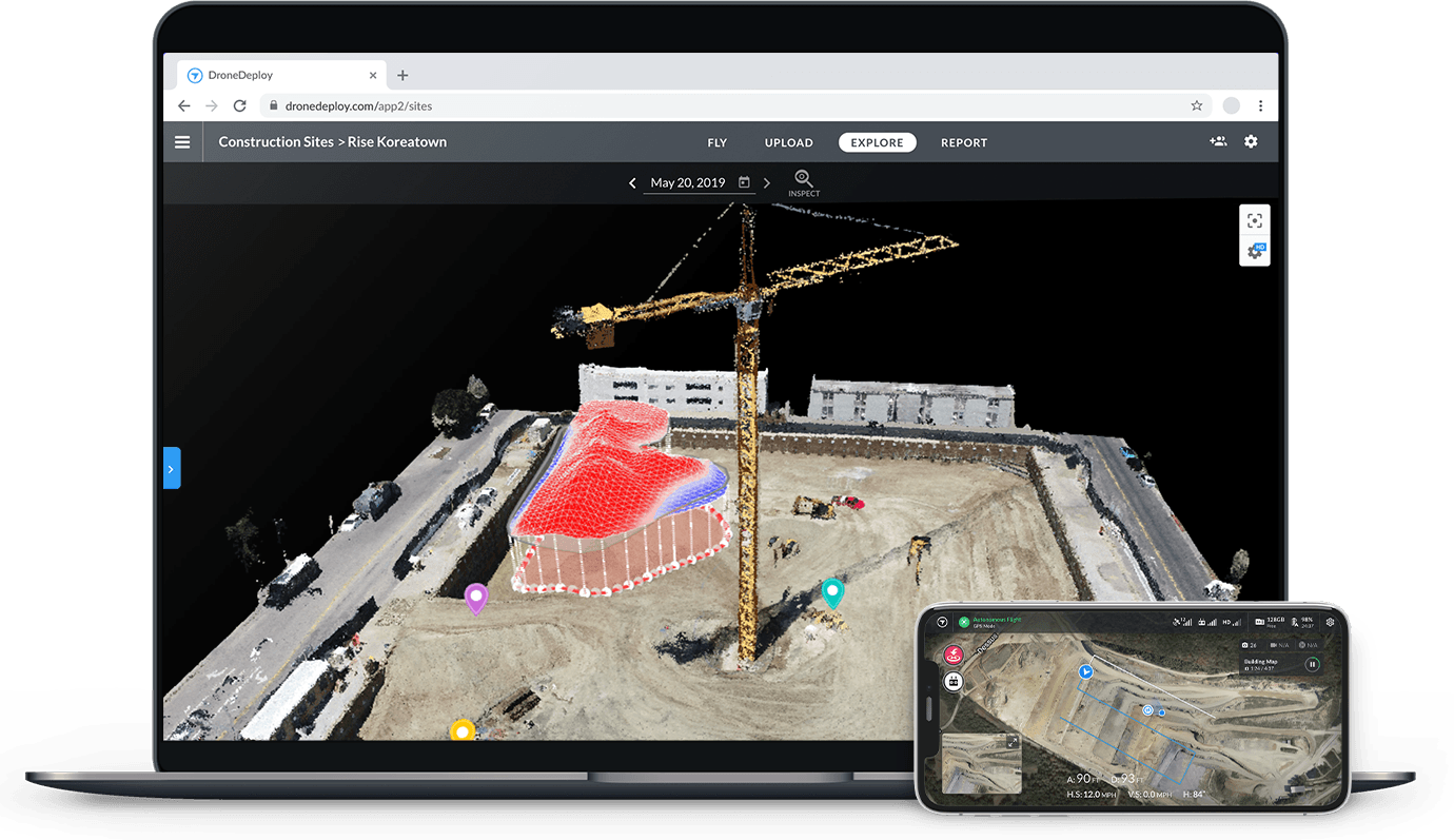 drone software platform desktop and mobile